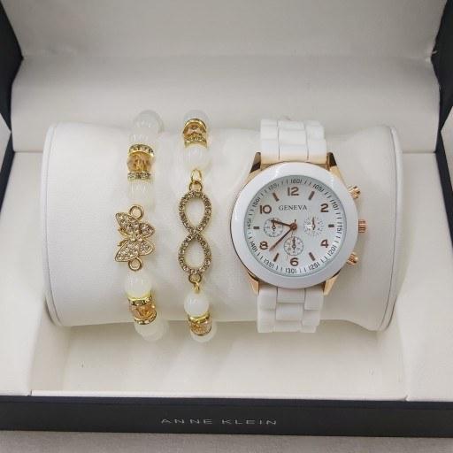 ست ساعت دستبند جنوا سفید