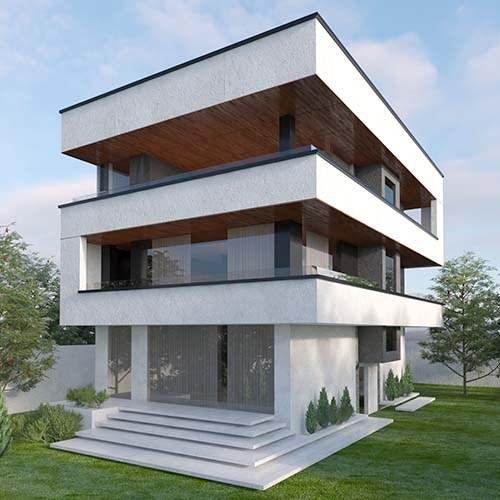 تصویر نمونه خانه ویلایی تریبلکس