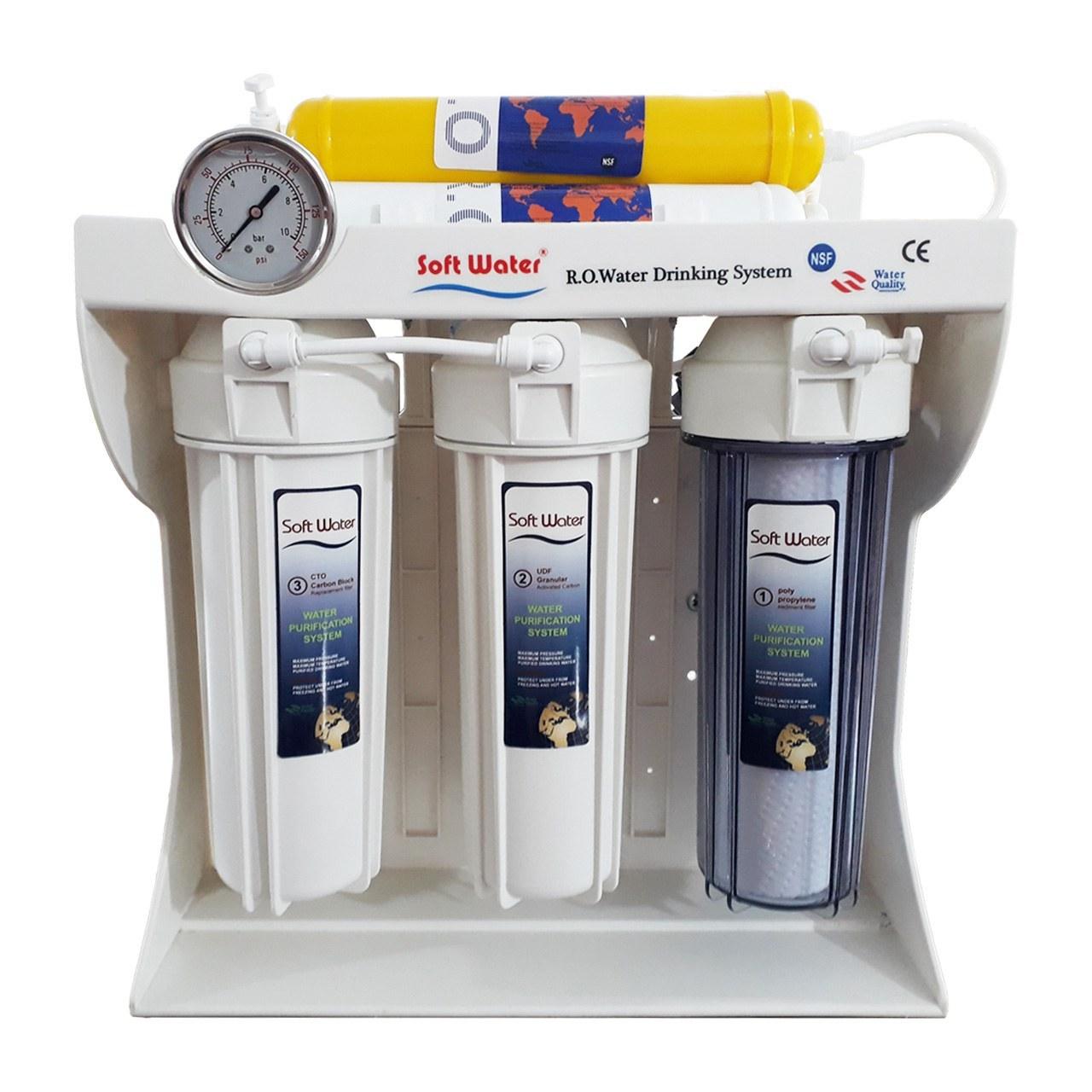 تصویر دستگاه تصفیه کننده آب خانگی 6 مرحله سافت واتر مدل RO2500
