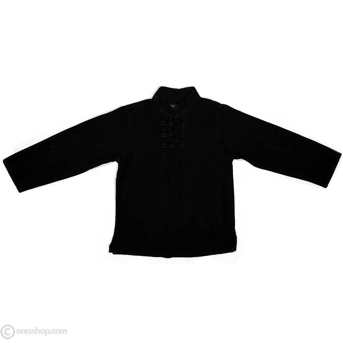 تصویر پیراهن پسرانه الیاف طبیعی مشکی