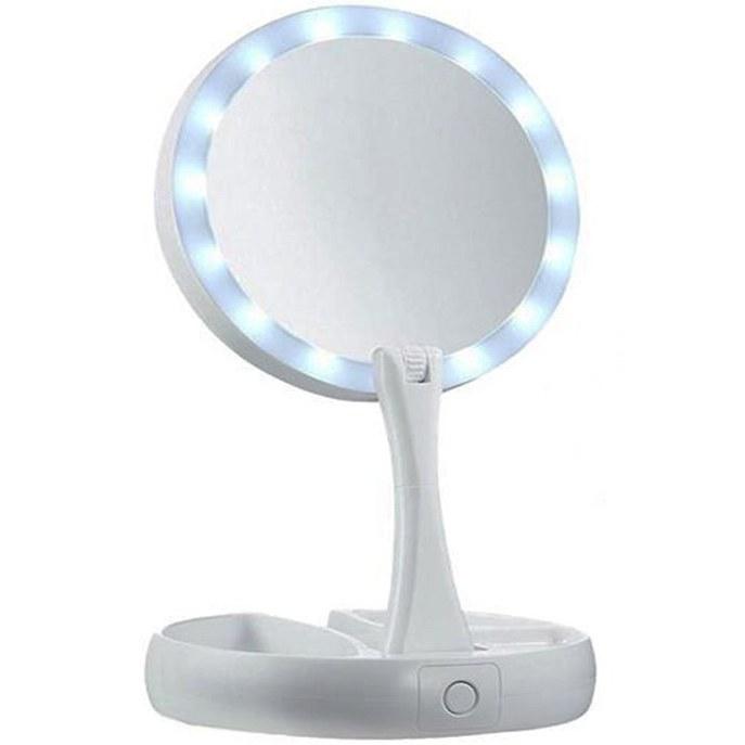 عکس آینه تاشو آرایشی دو طرفه LED دار  EMSON  اینه-تاشو-ارایشی-دو-طرفه-led-دار-emson