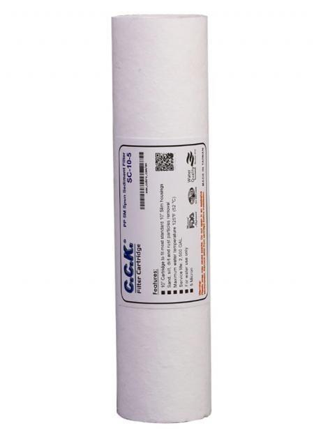 تصویر فیلتر مرحله اول(PP) دستگاه تصفیه آب خانگی cck