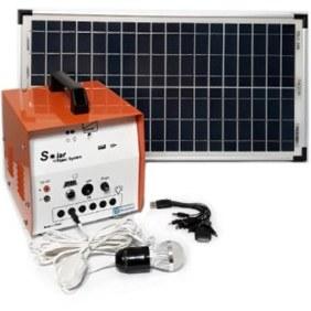 تصویر پکیج خورشیدی 30 وات، مناسب روشنایی و شارژ موبایل