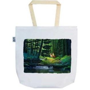 تصویر ساک خرید ترمه طراحان ایده مدل سوارکار در جنگل کد rai013B