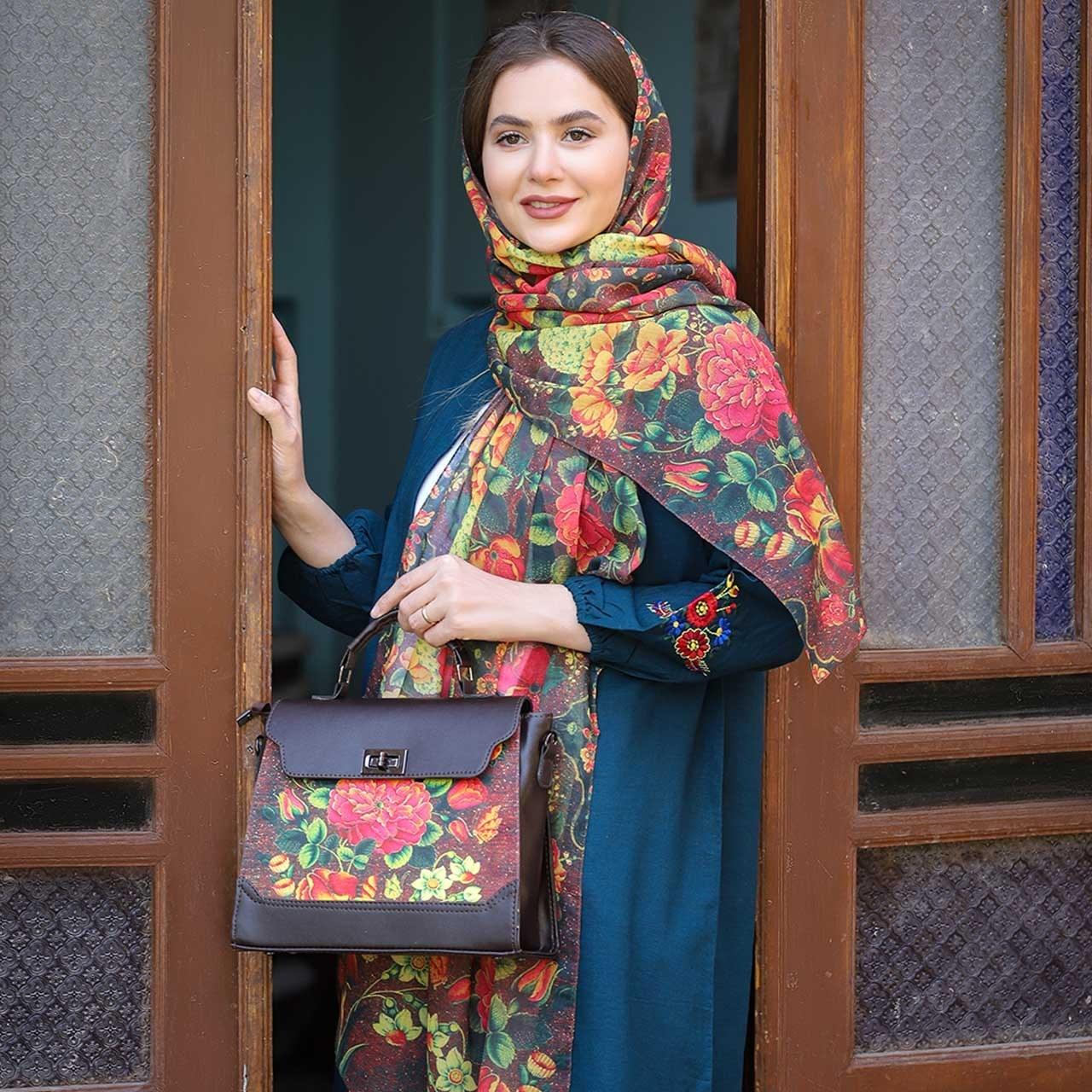تصویر ست کیف و شال زنانه پیچک کد 10 ا Women  Bag  and  Shawl  Set Code 10 Women  Bag  and  Shawl  Set Code 10