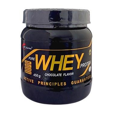 تصویر پودر وی پروتئین خالص با طعم شکلات  450 گرمی اس تی پی فارما