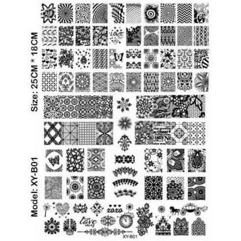 شابلون پلاستیکی طراحی ناخن کد XY-B01 |