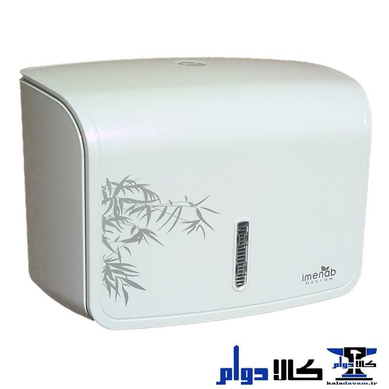 تصویر جا دستمال سرویس بهداشتی ایمن آب سفید با طرح بامبو