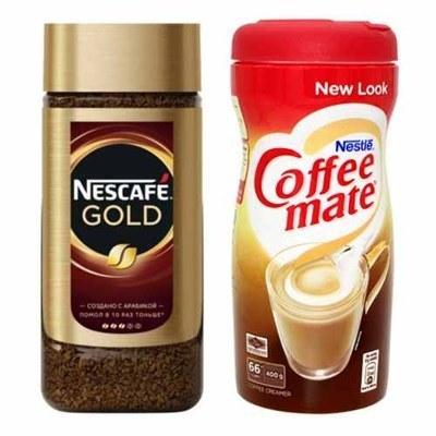 تصویر پک دوعددی قهوه فوری گلد نسکافه ۲۰۰ گرم و کافی میت نستله ۴۰۰ گرم