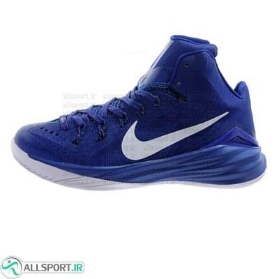 کفش بسکتبال نایک آبی سفید Nike Hyperfuse Blue
