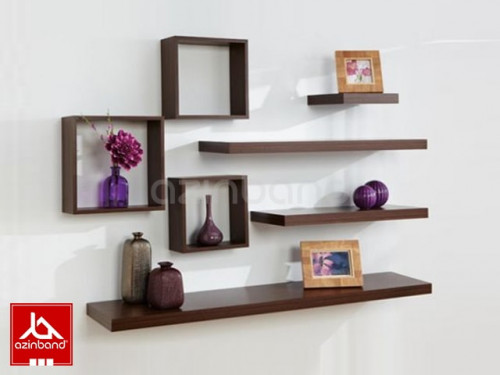 پک ۷ عددی شلف دیواری | چهار تخته و سه مکعب چوبی