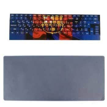 برچسب حروف فارسی کیبورد طرح بارسلونا به همراه محافظ کیبورد مدل 14-I مناسب برای لپ تاپ 14 اینچ |