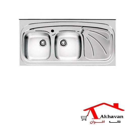 سینک ظرفشویی روکار کد 121SP اخوان