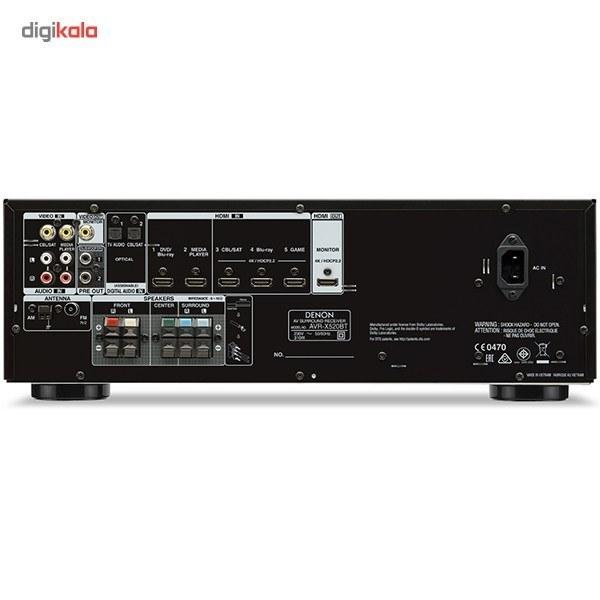 img گیرنده صوتی و تصویری دنون مدل AVR-X520BT Denon AVR-X520BT Network AV Receiver