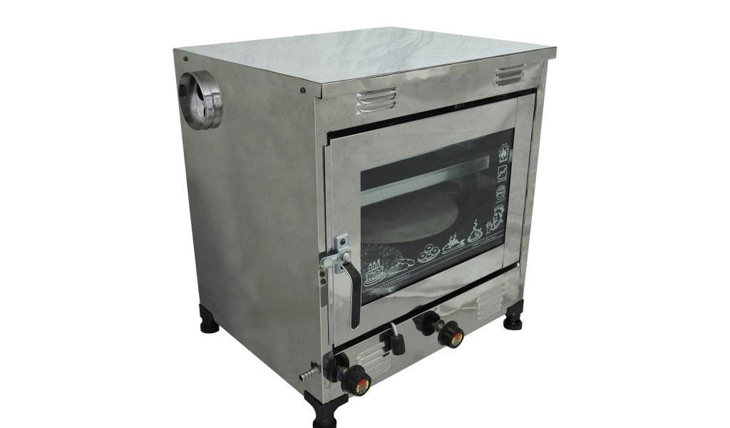 تصویر تنور گازی مبتکر تمام استیل 2 سینی TG-121