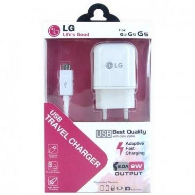 تصویر شارژر دو تیکه میکرو ال جی LG3، LG4، LG5