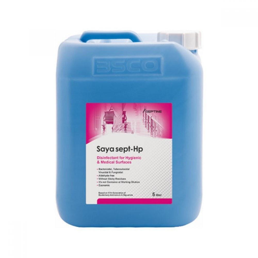 تصویر محلول ضد عفونی کننده سطوح سایاسپت HP حجم 5 لیتر