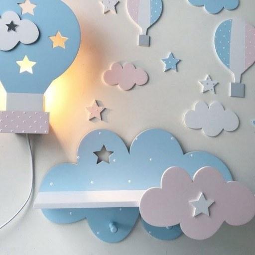 عکس شلف اتاق کودک طرح ابر (فقط شلف )  شلف-اتاق-کودک-طرح-ابر-فقط-شلف