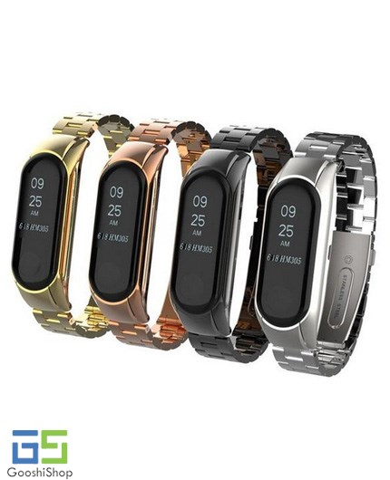 بند فلزی دستبند هوشمند شیائومی می بند 3 | Xiaomi Mi Band 3 SmartBand Metal Wrist Strap