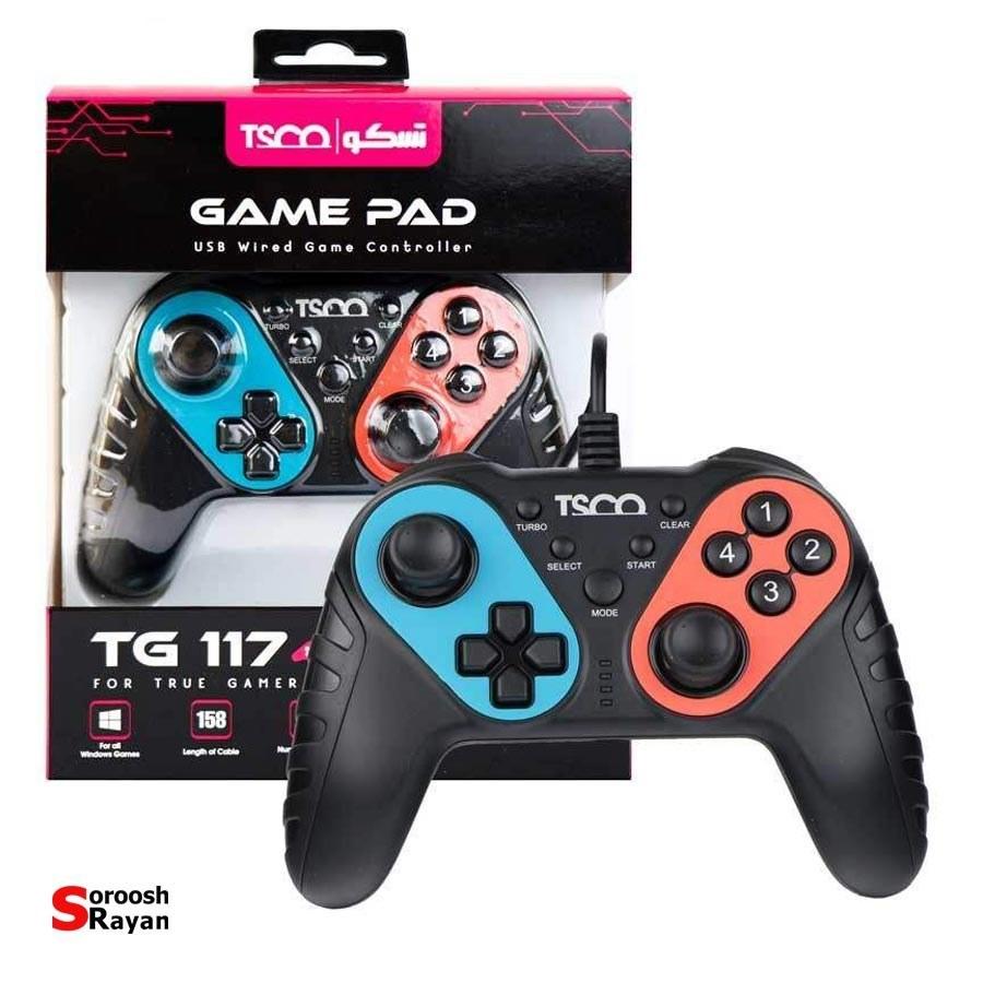 تصویر مشخصات ، قیمت و خرید دسته بازی تسکو مدل TG 117 ا TSCO TG 115 Gamepad TSCO TG 115 Gamepad