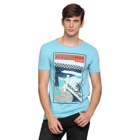 تصویر تیشرت مردانه(آبی) برند کیابی فرانسه سایز S تا XXL