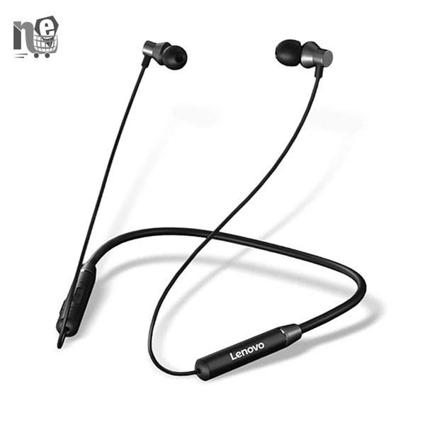تصویر هدفون بی سیم لنوو مدل HE05 Lenovo neckband HE05 Wireless Headphones