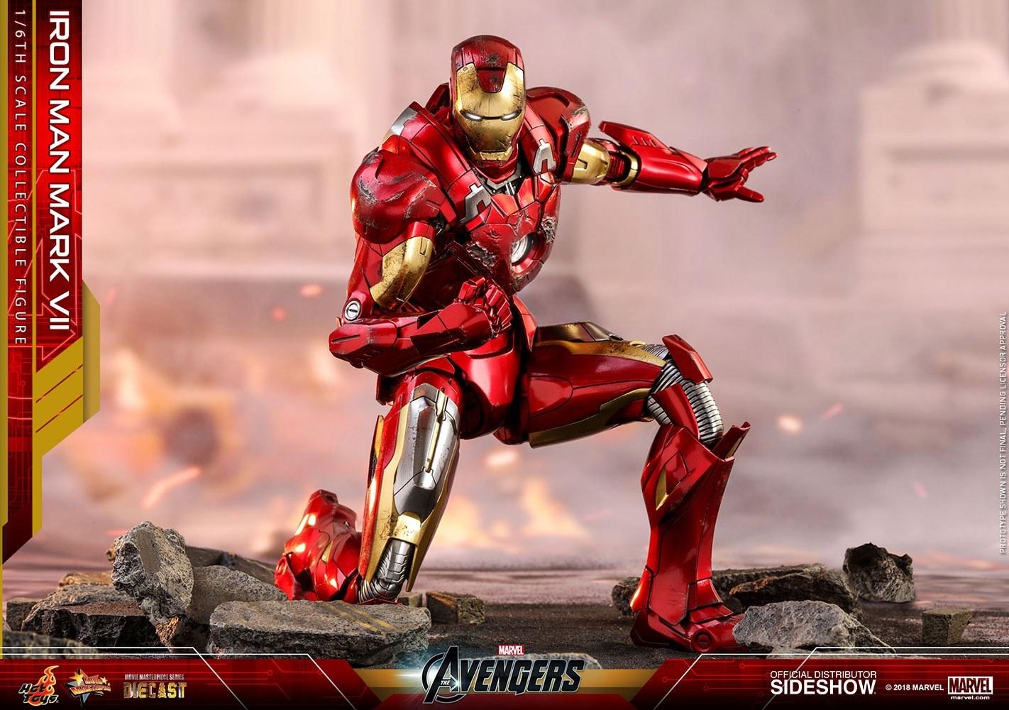 تصویر اکشن فیگور آیرون من Iron Man Mark Vii هات تویز