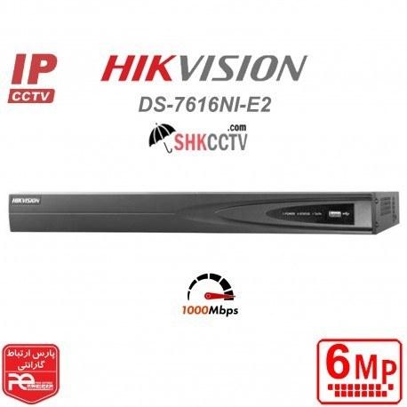 تصویر ضبط کننده ویدئویی هایک ویژن DS-7616NI-E2/16P HIKVISION DS-7616NI-E2/16P NVR