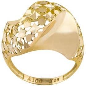 انگشتر طلا 18 عیار زنانه کد R179 |