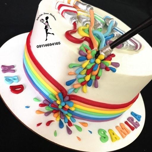 کیک خامه ای 2کیلویی