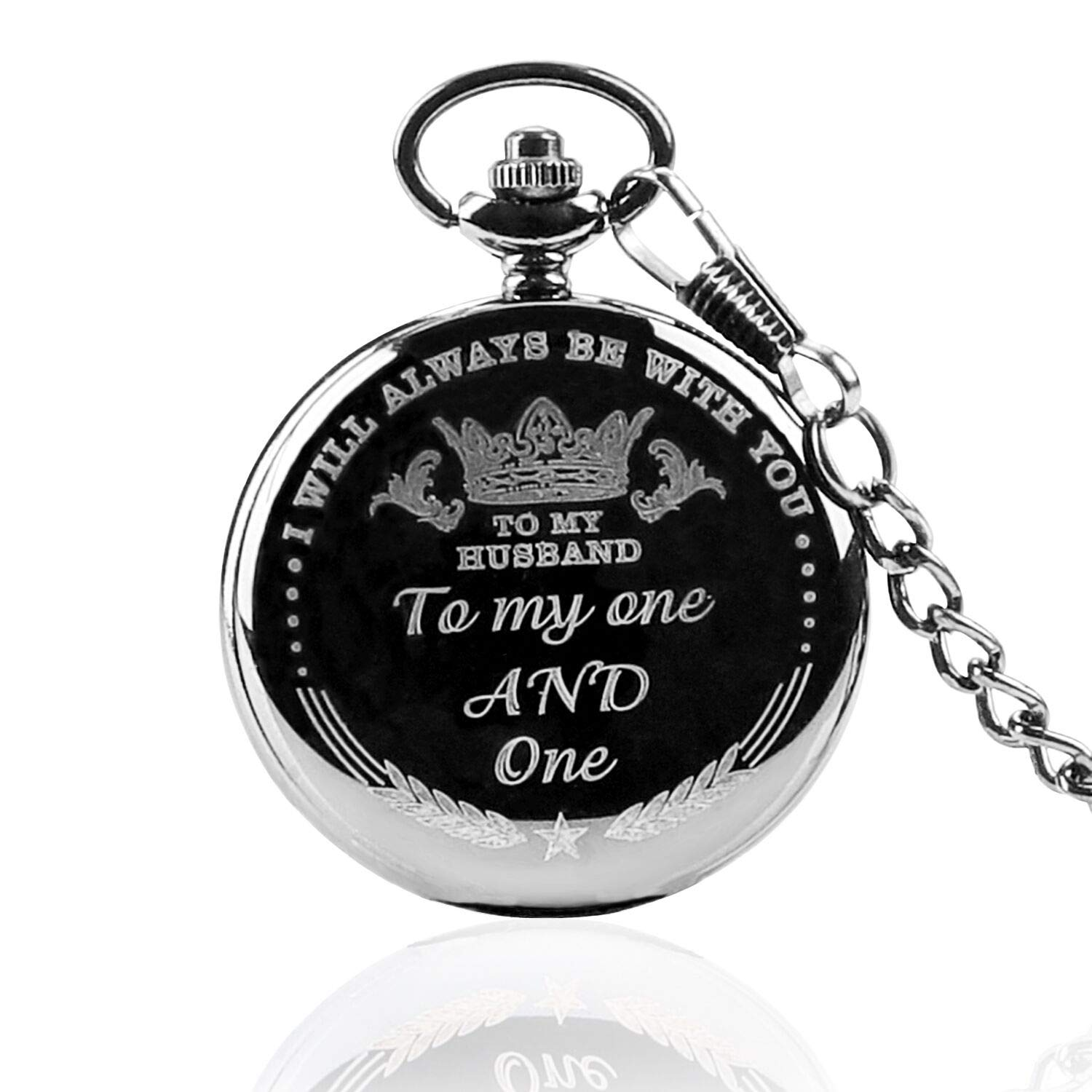 Anniversary Gifts for Men, Engraved to My Husband Pocket Watch from Wife Gift,Husband Gifts from Wife Pocket Watches, Best Birthday Gifts for Him,Father Day Gifts |
