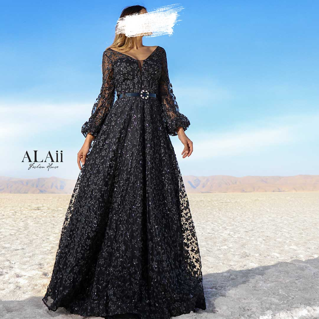 تصویر لباس مجلسی بلند کد NL14 Long ball gown code NL 14