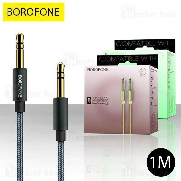 کابل انتقال صدا بروفون Borofone BL3 Audiolink Aux Cable به طول 1 متر
