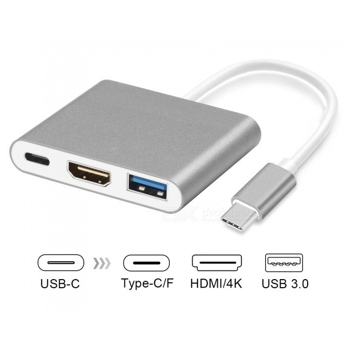 تبدیل Type-C به HDMI و USB3.0 و Type-C