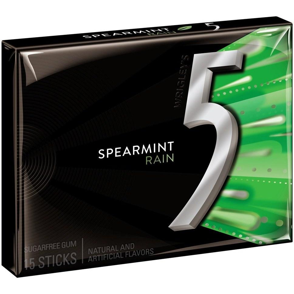 آدامس فایو مدل نعناع باران   Wrigley's 5 Five Rain Spearmint Gum