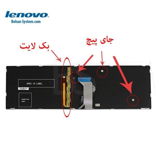 تصویر کیبورد لپ تاپ لنوو IdeaPad مدل Y510P به همراه لیبل کیبورد فارسی جدا گانه