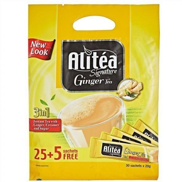 تصویر شیر چای علی تی زنجبیلی 30 عددی - alitea ginger tea