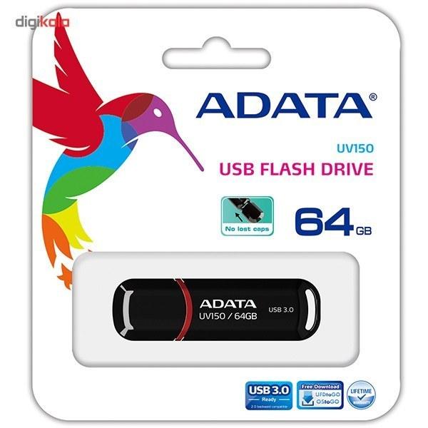 تصویر فلش مموری ای دیتا UV150 با ظرفیت 64 گیگابایت Flash Memory ADATA UV150 64GB