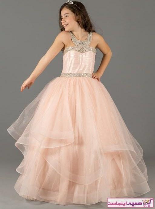 تصویر خرید نقدی لباس مجلسی دخترانه  برند Mileny رنگ صورتی ty38993958