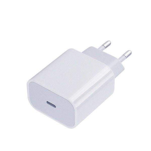 تصویر شارژر 20 وات ایفون 12 شارژر سریع ایفون مدل 2 پین A1692 فست شارژر اپل شارژر اصلی ایفون 12 پرو مکس کلگی شارژر A1692 20W USB-C Power Adapter original Charger apple Iphone 12 / 12 mini /12 pro / Iphone 12 pro max