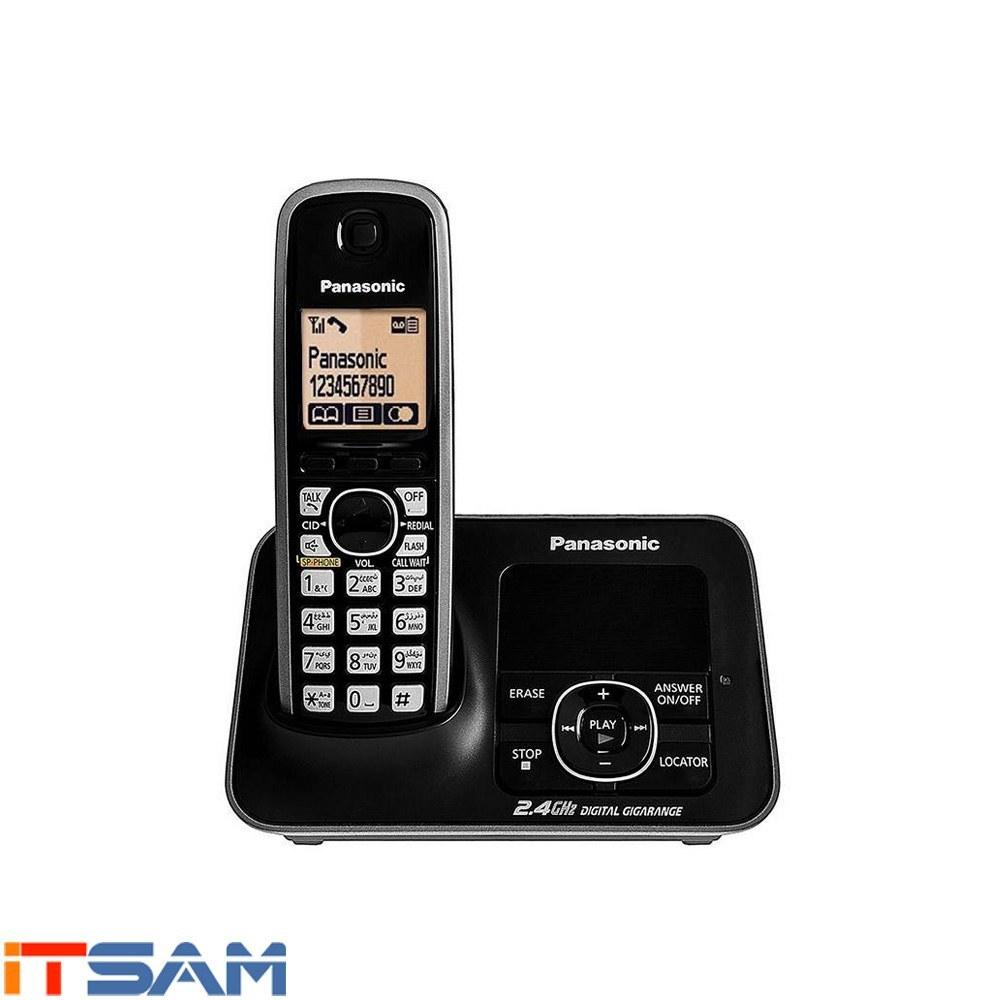 تصویر تلفن بی سیم پاناسونیک مدل KX-TG3721 ا Panasonic KX-TG3721 Wireless Phone Panasonic KX-TG3721 Wireless Phone