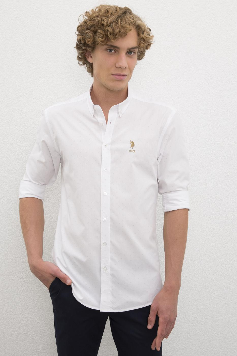 تصویر پیراهن آستین بلند جذب ساده مردانه
