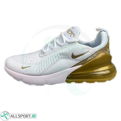 کتانی رانینگ نایک ایر مکس Nike Air Max 270 White Gold