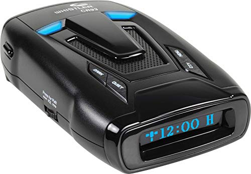 Whistler CR93 High Performance Laser Radar Detector: 360 Degree Protection, Bilingual Voice Alerts, and Internal GPS |