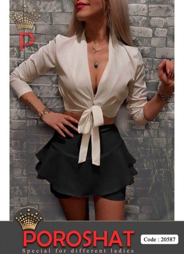 لباس مجلسی ست مشکی 20587  