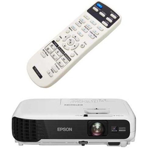 تصویر کنترل ویدئو پروژکتور اپسون مدل  PowerLite W04+