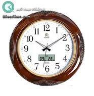 ساعت دیواری طرح چوب مارال با تقویم دیجیتالی کد 8 |