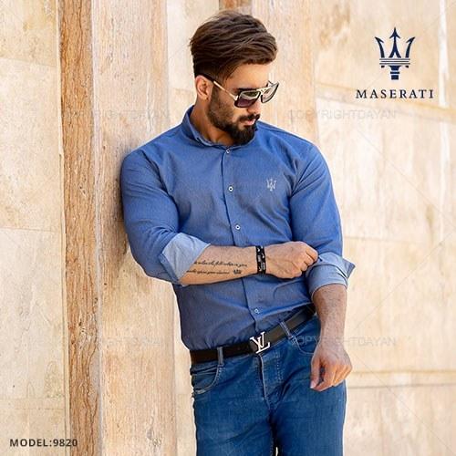 پیراهن مردانه Maserati مدل T9820 |