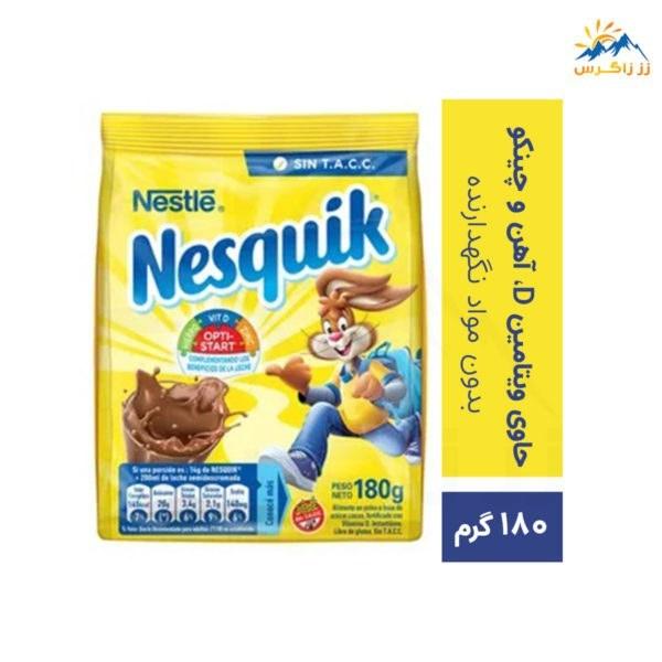 تصویر پودر شیر کاکائو نسکوئیک نستله وزن 180 گرم