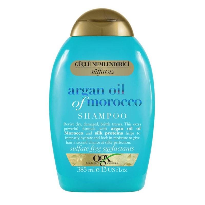 عکس شامپو آبرسان و احیا کننده قوی مو او جی ایکس حاوی روغن آرگان مراکشی حجم 385 میل OGX Argan Oil of Morocco Hydrate & Revive Shampoo 385ml شامپو-ابرسان-و-احیا-کننده-قوی-مو-او-جی-ایکس-حاوی-روغن-ارگان-مراکشی-حجم-385-میل